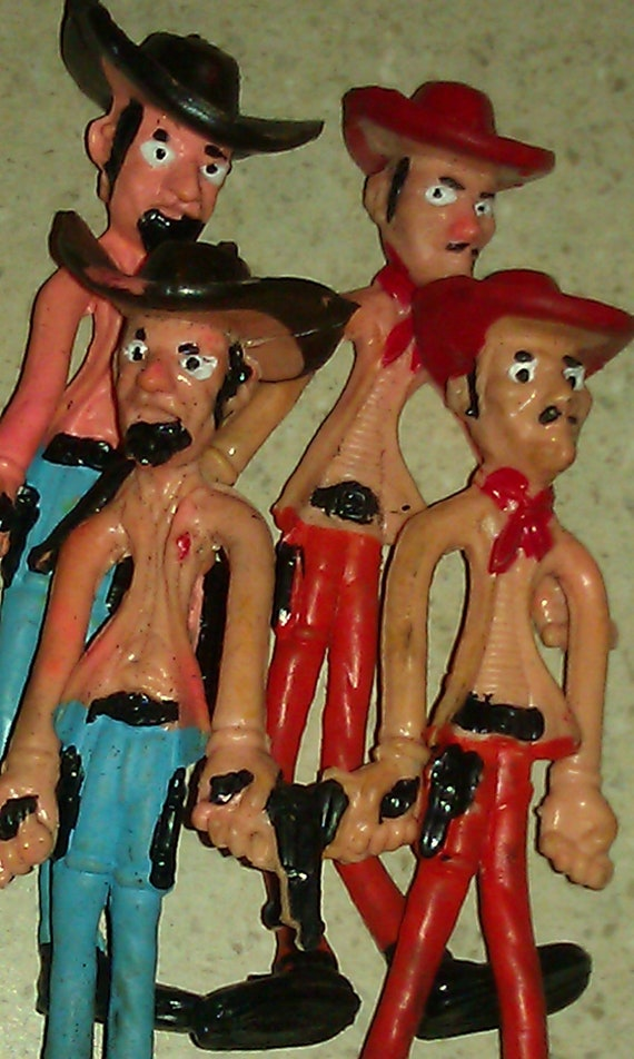 vintage bendy toys
