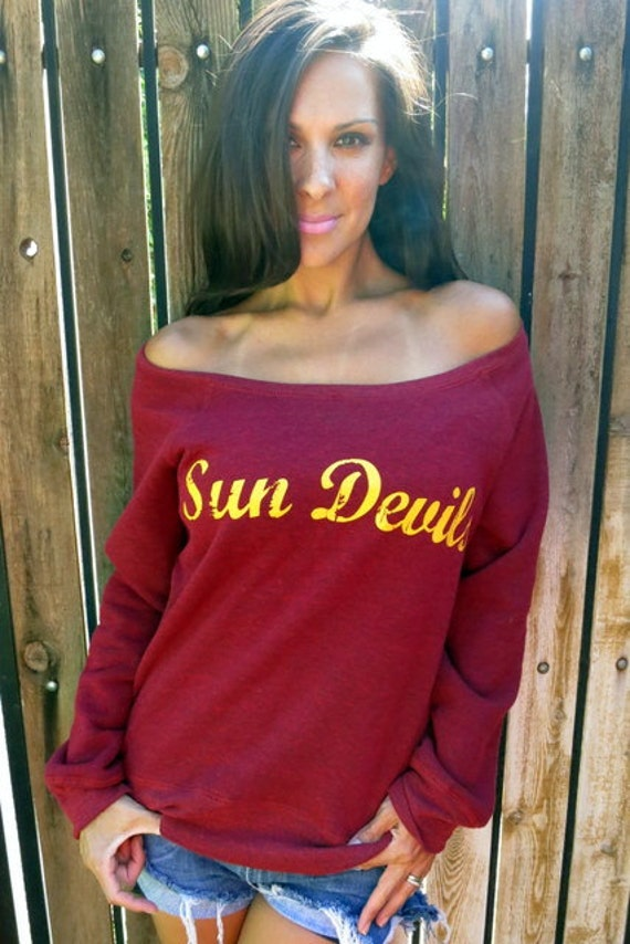 YOUR TEAM Off the Shoulder Boxy Sweatshirt by Firedaughter