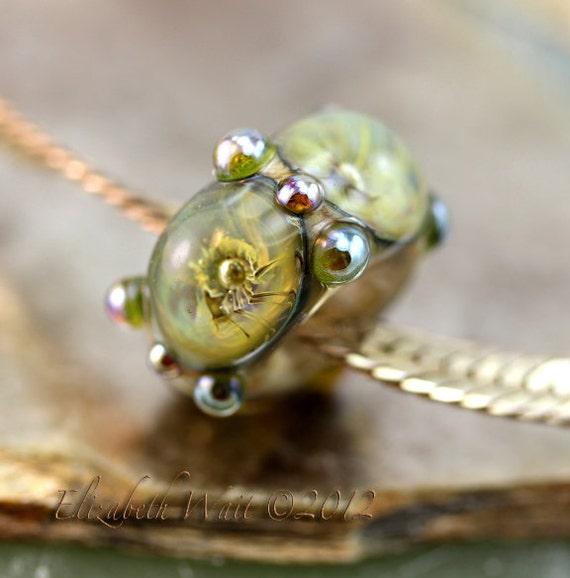 Amber Earth Galaxy 7972 betsybeads Lampwork Beads Large Hole Bead Handmade Glass Bead BHB SRA