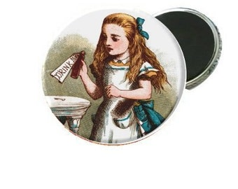 Magnet - Alice In Wonderland Drink Me Classic Book Image