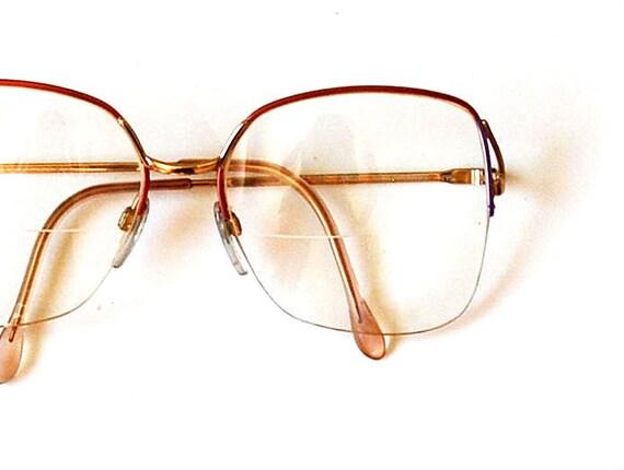 vintage OMBRE glasses / 1970s PASTEL metal frame eye glasses