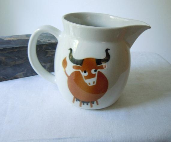 vintage arabia finland bull pitcher