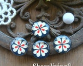 12mm Photo Glass Cabochon, 8mm 10mm 14mm 16mm 20mm 25mm 30mm Round Flower glass Cabochon - BCH155B