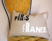 Paris - 12 x 16 Removable Pillow Cover with Insert