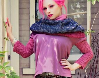 Japanese Fashion Harajuku Decora Girl KPop Kawaii Mori Girl Oversized Sweater with Hoodie by Janice Louise Miller