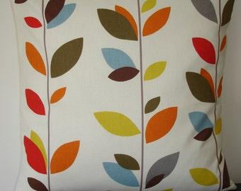 "20x20 Pillow Cover 20"" Stem Leaves Cushion Sham Case Slip Pillowcase Red Blue Orange Brown Mustard 20"" NEW"