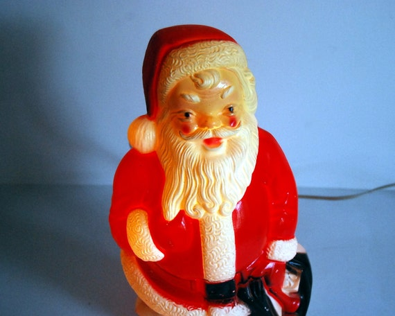 Vintage Santa Empire Light Up Blow Mold Plastic Santa Clause