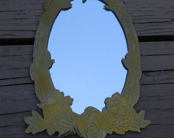 """Vintage Handcrafted Brass Wall Mirror 9"""" x 5 1/2"""""""