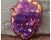 Amethyst Crystal Soap Rock Lavender Fragrance Violet and Gold