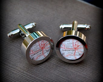 Edmonton Map Cuff Links - Great Gift