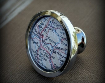 Florence Map Drawer Pull Cabinet Knob Handle