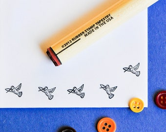 Hummingbird in Flight  Rubber Stamp