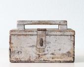Vintage Silver Tool Tote