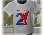 Personalized Boys Elmo Birthday Number Shirt 2T 3T 4T