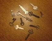 11 Vintage Keys--Various Sizes & Various Metals