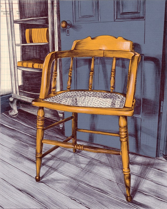 Vintage Chair Art Print - All Business
