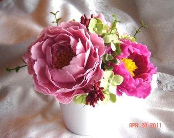 Peony Arrangemet Wedding Decoration Centerpiece Table Settings Mother's Day Gift