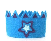 Blue Star Felt Crown