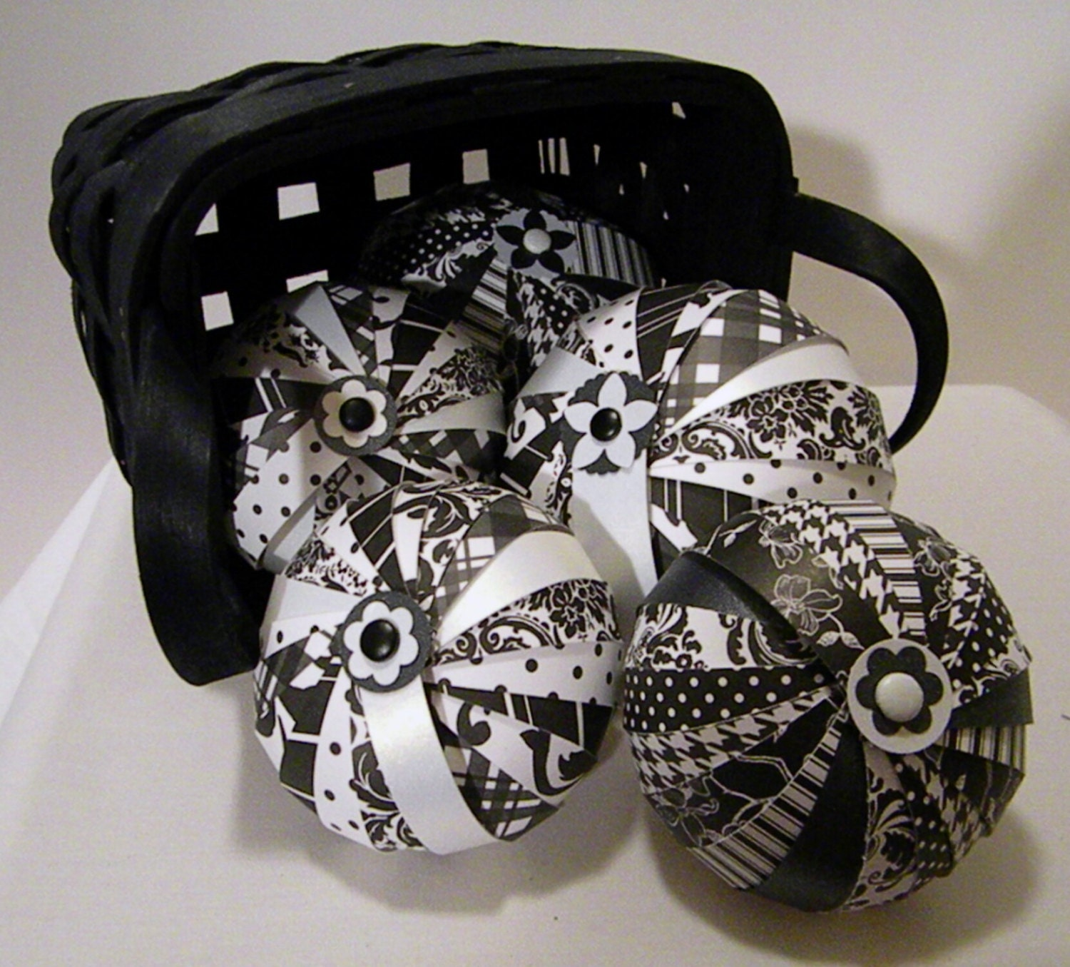 Black Decorative Balls For Bowls: Decorative Accent Balls Bowl Fillers Chic By Glamourontheporch