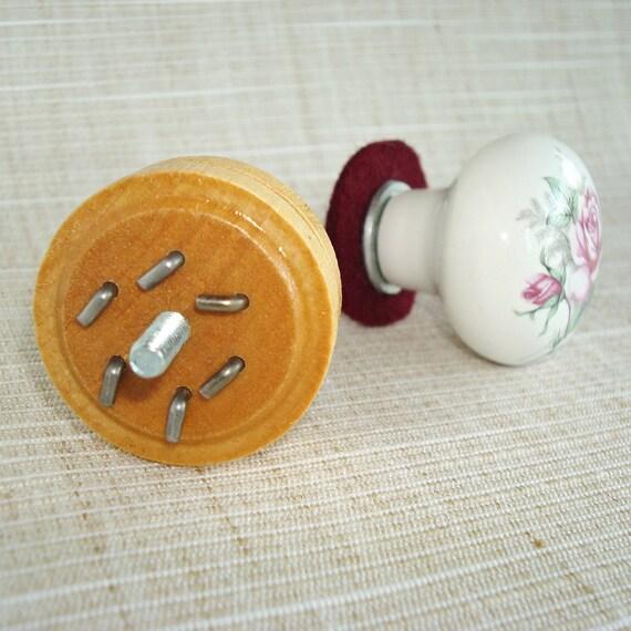 Rose Drawer Pull, Needle Felting Tool