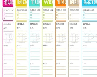 Home Schedule Template. 25 best schedule printable ideas on ...