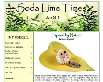 July 2012 Soda Lime Times Lampworking Magazine (PDF) - by Diane Woodall