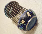 Antique Chinese Cloisonné CRICKET CAGE around 1930