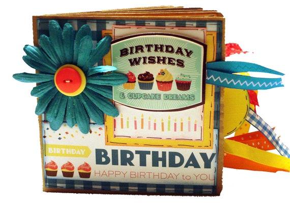 Birthday Wishes Premade Scrapbook - Paper Bag Album - Birthday
