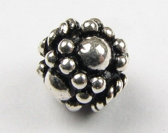 Decorative Bali Sterling Silver Beads (2)