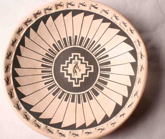 Kokipelli Plate from the Acoma Pueblo New Mexico