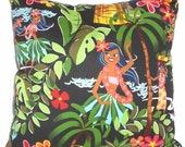 ON SALE Clearance Retro Hawaiian Tiki Pillow Home Decor