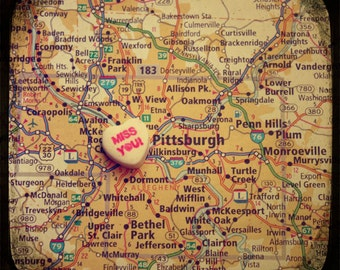 miss you pittsburgh candy heart map art ttv photo print