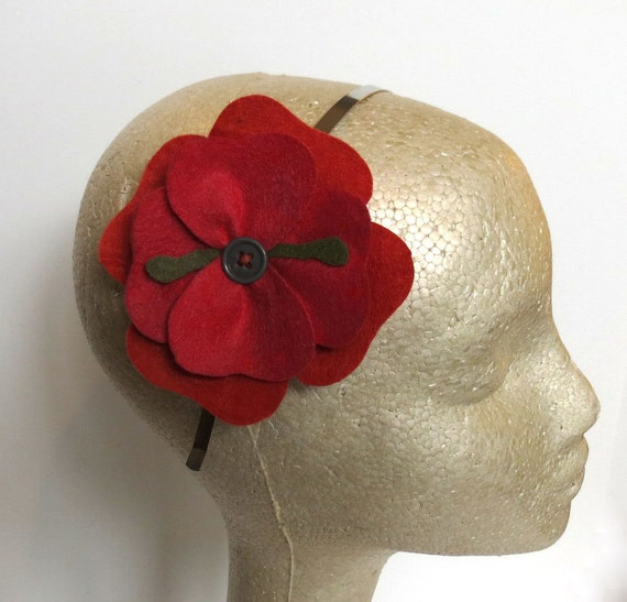 Autumn Flower Felt Headband