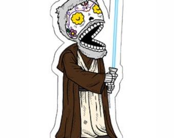 Obi Wan Calavera Die Cut Vinyl Sticker