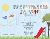 Custom Printable Playground Birthday Party Invitation