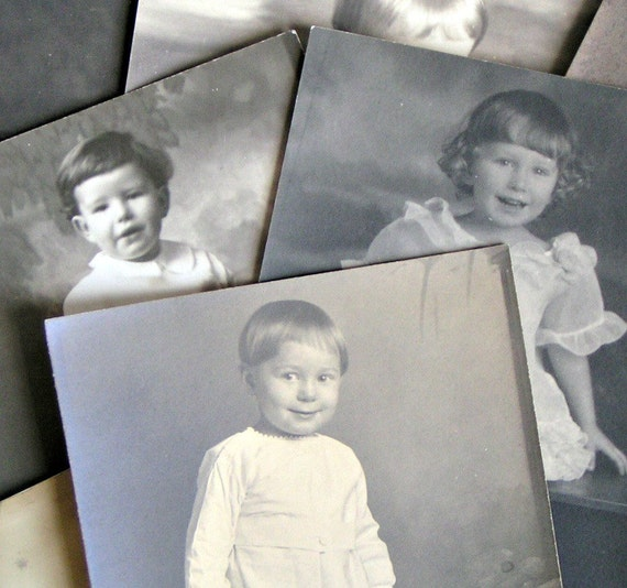 SALE... Antique Photo 8 Pack. Babies and Toddlers