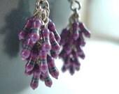 Purple bunches resistor earrings