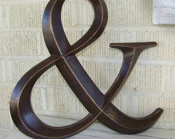 Distressed Paint Wedding Ampersand Symbol