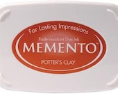 Potters Clay ink pad for rubber stamps  Memento stamp pad --9110