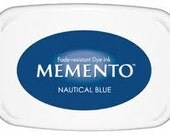 Blue ink pad for rubber stamps  Nautical blue Memento stamp pad --9116
