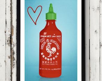 Love Sriracha Print