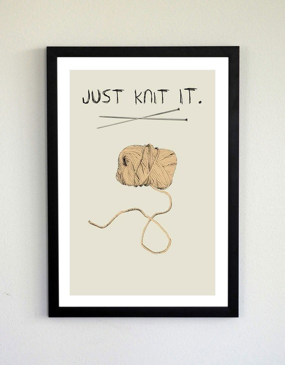 Just Knit It Print