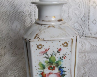 SALE Antique Victorian Late 1800's Porcelain Apothecary Jar, Cologne Decanter......Maine Find Was 29.99 Now 24.99