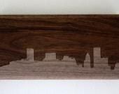 Baltimore Skyline. - 4x8 - Walnut