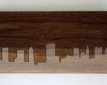 Columbus Skyline. - 4x8 - Walnut
