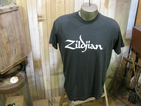 Zildjian 70s Vintage T shirt The Only Serious Choice rock band tshirt