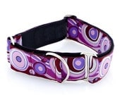 "1.5"" dog collar Serendipity wide buckle or martingale collar"