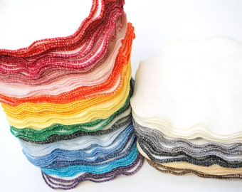 Free Offer - Natural ORGANIC Cotton/ Bamboo Facial Cloths or Baby Wipes- 12x11- Set of 6- Choose Your Color
