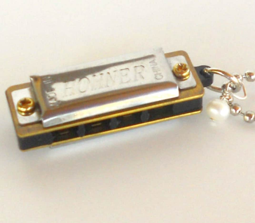 Harmonica Necklace: Harmonica Necklace Musical Instrument Music To By Busterandboo