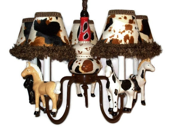 Western Horse Chandelier Cowboy Room Lighting – Cowboy Chandelier
